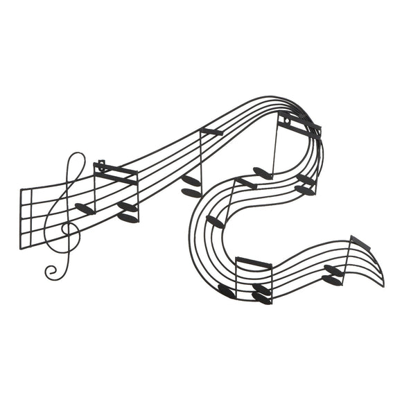 TRADITIONAL, MUSIC NOTES, METAL WALL DECOR, MUSIC