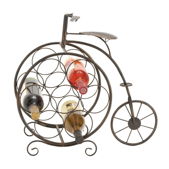 RUSTIC, BICYCLE, WINE, BOTTLE HOLDER, HOME DECOR, WINE HOLDERS