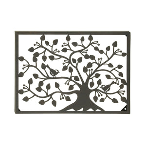 TRADITIONAL, TREE, METAL WALL DECOR, FLORAL