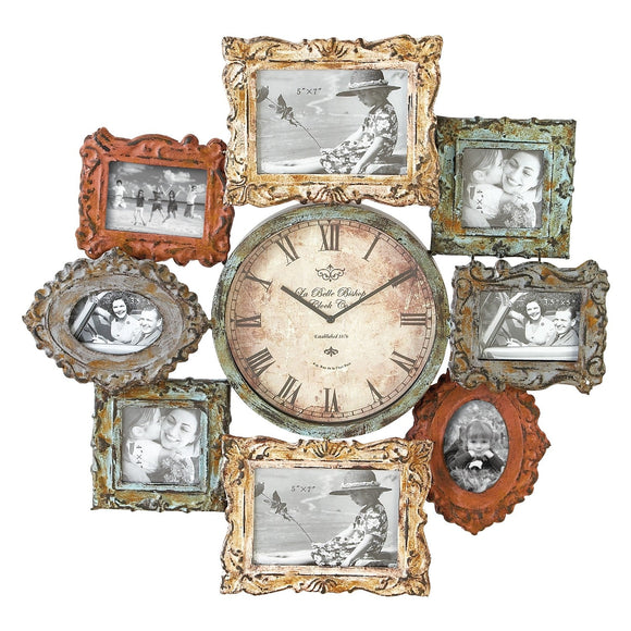 COUNTRY COTTAGE, PICTURE FRAME, CLOCK, FAMILY, WALL CLOCKS, EXTRA LARGE CLOCK (24