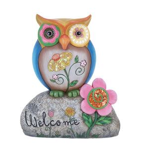 COUNTRY COTTAGE, OWL, WELCOME, GARDEN, GARDEN SCULPTURES