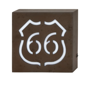 VINTAGE, ROUTE 66, LED, WALL ART, SIGNS & FLAGS