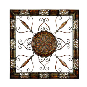 RUSTIC, WINDOW, FRAME, METAL WALL DECOR, EMBOSSED, SCROLL & CARVED