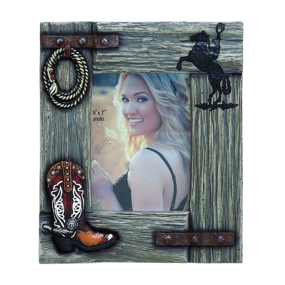 VINTAGE, WESTERN, PICTURE FRAME, PHOTO FRAMES, TABLE TOP
