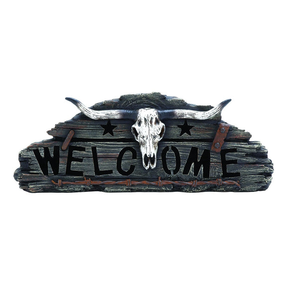 VINTAGE, WESTERN, COW SKULL, WELCOME, HOME DECOR, HOME ACCENTS