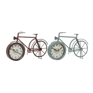COUNTRY COTTAGE, BICYCLE, CLOCK, HOME DECOR, CLOCKS - TABLETOP