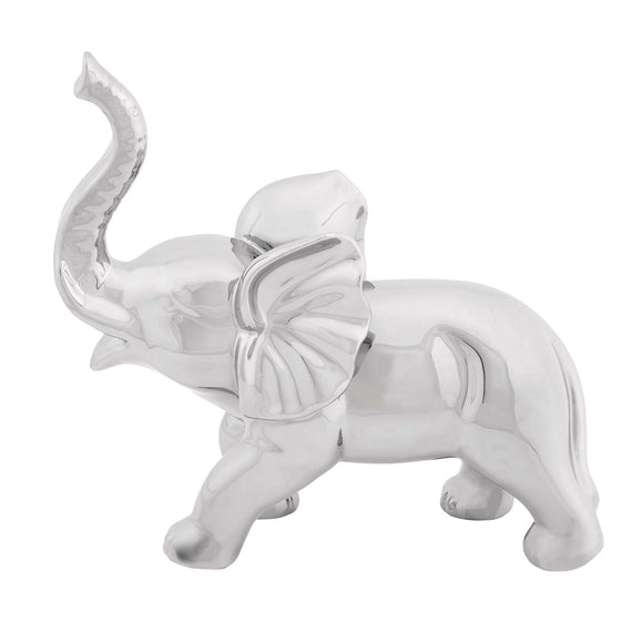 MODERN, ELEPHANT, CHROME, SCULPTURES, SAFARI ANIMALS