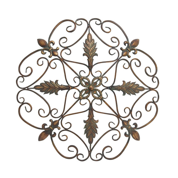 TRADITIONAL, FLEUR DE LIS, WALL ART, METAL WALL DECOR, ABSTRACT