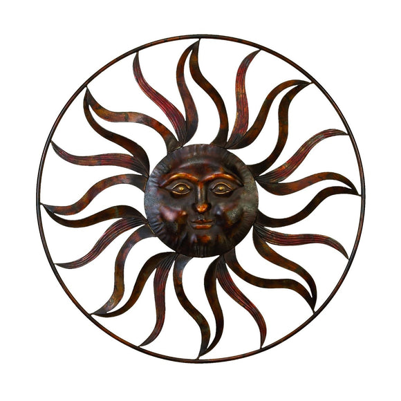 RUSTIC, SUN, METAL WALL DECOR, CELESTIAL