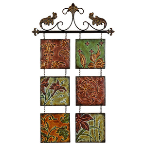 TRADITIONAL, FLOWERS, WALL ART, METAL WALL DECOR, FLORAL