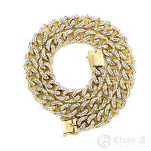 Load image into Gallery viewer, 14K GD PT Lab-Diamond Iced 10mm Miami Cuban Link Chain Hip Hop Necklace - CH3109