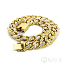 Load image into Gallery viewer, 14K GD PT Lab-Diamond Iced 15mm Miami Cuban Link Chain Hip Hop Necklace - CH3110