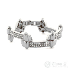 Load image into Gallery viewer, Men's 18K GD PT Iced Lab-Diamond Zig Zag Hip Hop Fashion Bracelet - KDB508