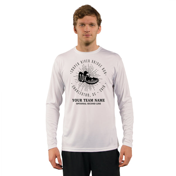 Cooper River Bridge Run Team Kicks Men's UPF 50+ Long Sleeve T-Shirt