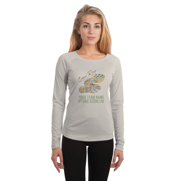 Cooper River Bridge Run Team Charleston Map Women's UPF 50+ Long Sleeve T-shirt
