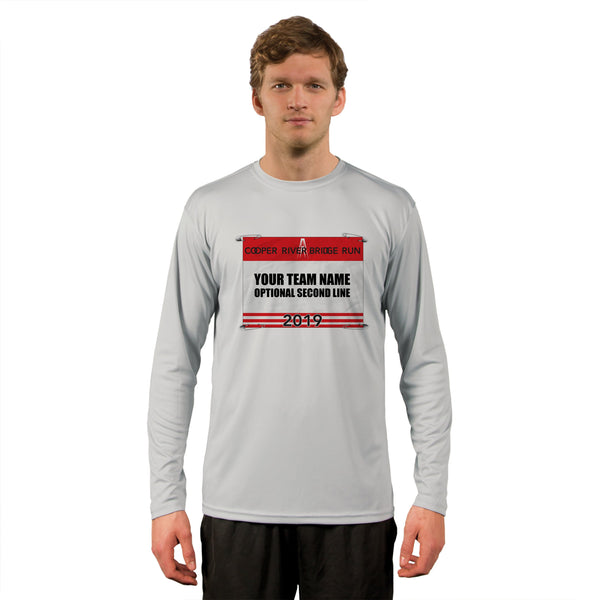 Cooper River Bridge Run Team Race Bib Men's UPF 50+ Long Sleeve T-Shirt