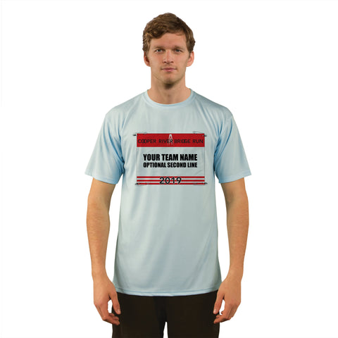 Cooper River Bridge Run Team Race Bib Men's UPF 50+ Short Sleeve T-Shirt