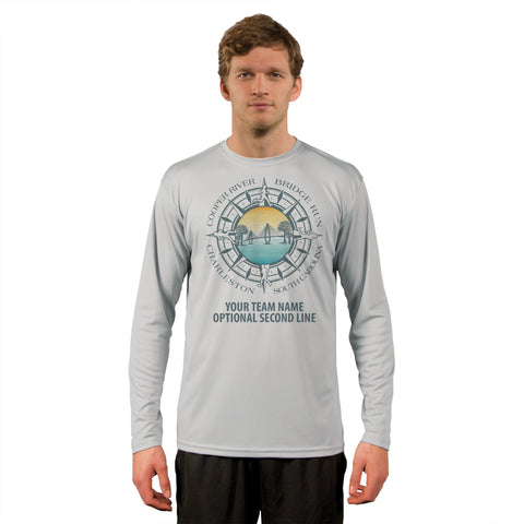 Cooper River Bridge Run Team Compass Men's UPF 50+ Long Sleeve T-Shirt