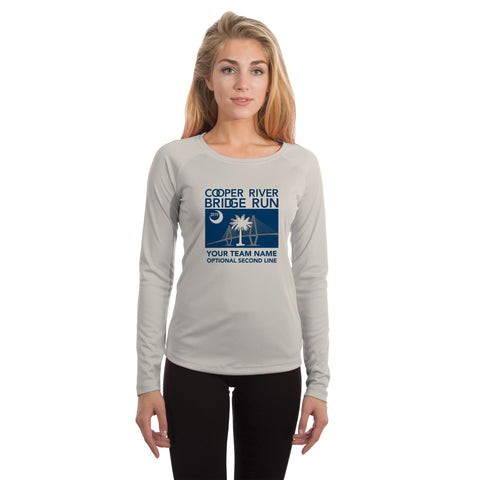 Cooper River Bridge Run Team SC Flag Women's UPF 50+ Long Sleeve T-shirt