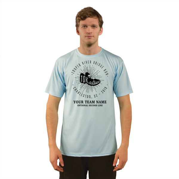 Cooper River Bridge Run Team Kicks Men's UPF 50+ Short Sleeve T-Shirt