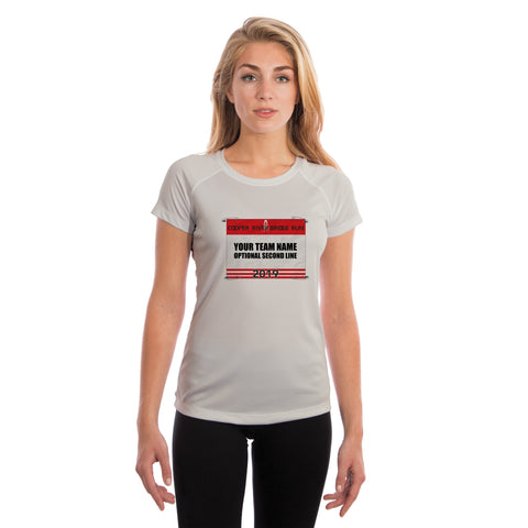 Cooper River Bridge Run Team Race Bib Women's UPF 50+ Short Sleeve T-shirt