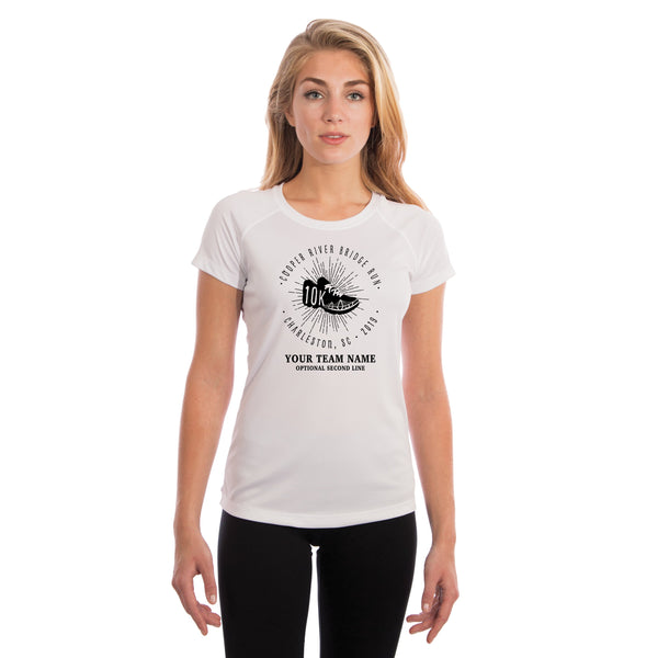 Cooper River Bridge Run Team Kicks Women's UPF 50+ Short Sleeve T-shirt