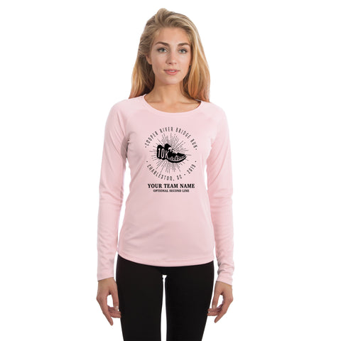 Cooper River Bridge Run Team Kicks Women's UPF 50+ Long Sleeve T-shirt