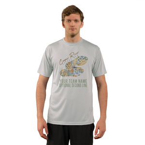Cooper River Bridge Run Team Charleston Map Men's UPF 50+ Short Sleeve T-Shirt