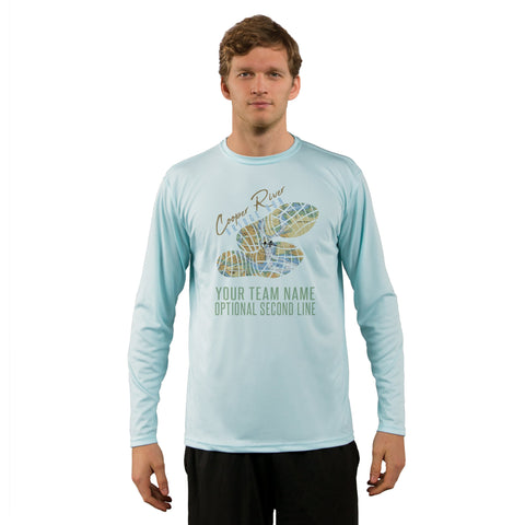 Cooper River Bridge Run Team Charleston Map Men's UPF 50+ Long Sleeve T-Shirt