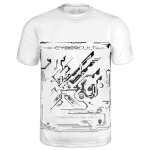 Skyward Transmission :: White Tee | Cybercult.net