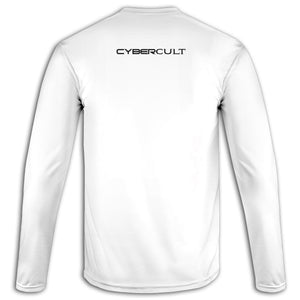 Cybercult Pocket Sigil :: White Long Sleeve Tee | Cybercult.net