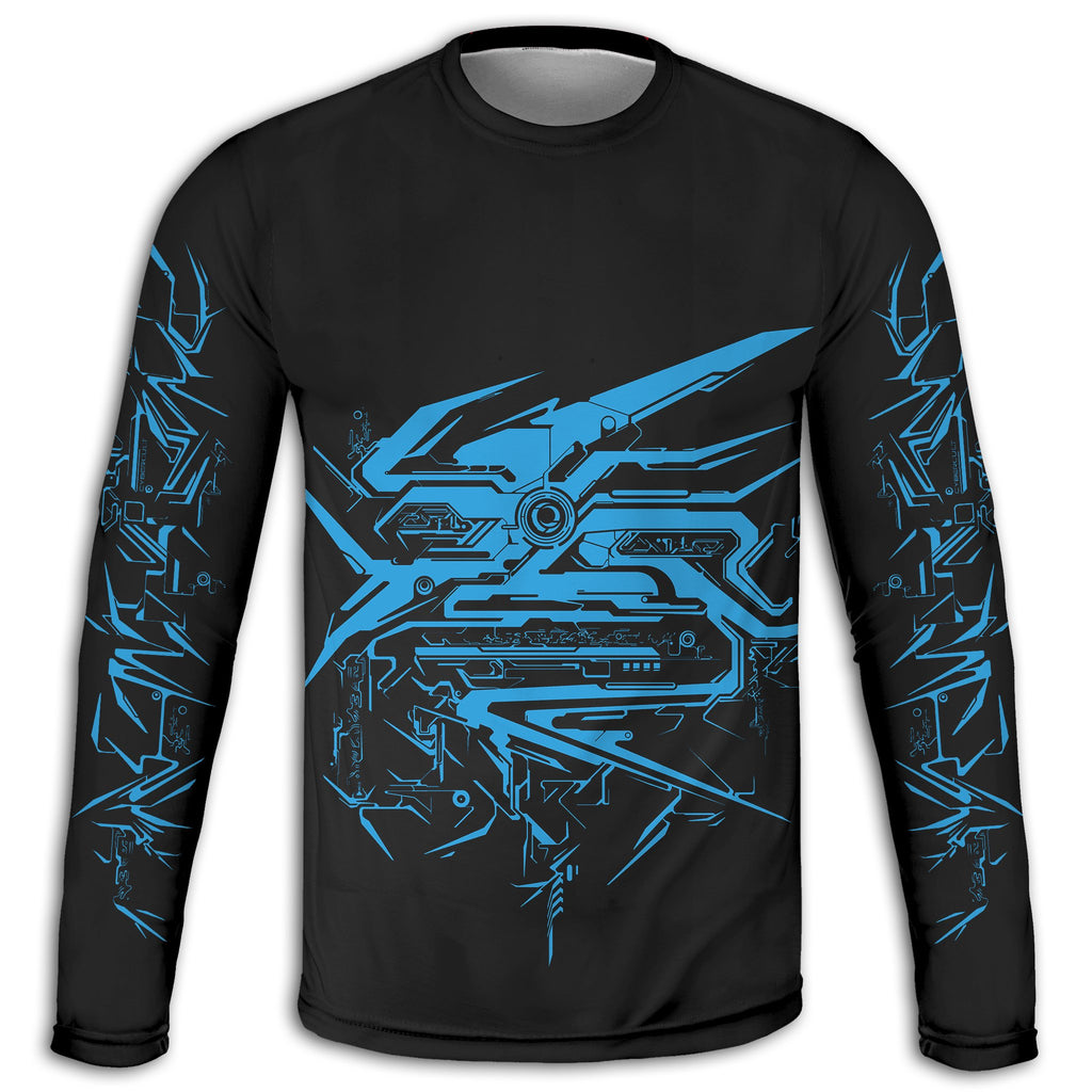 Biogenesis :: Blue Long Sleeve Tee | Cybercult.net