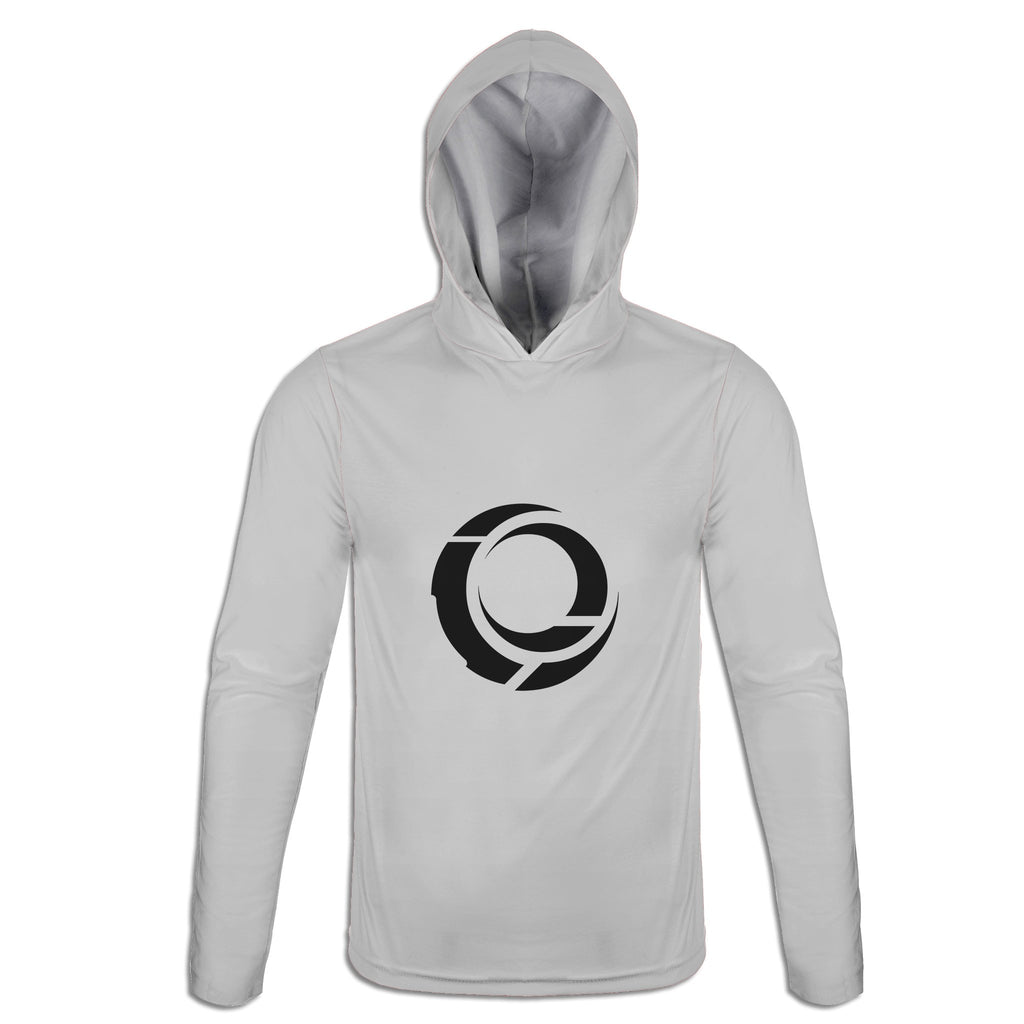 Nested Moon Sigil :: White Lightweight Hoodie | Cybercult.net