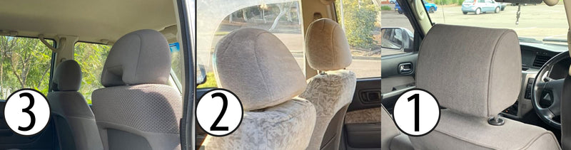 Nissan Patrol GU Wagon Premium Neoprene Rear Rows Seat Covers (Made to Order)