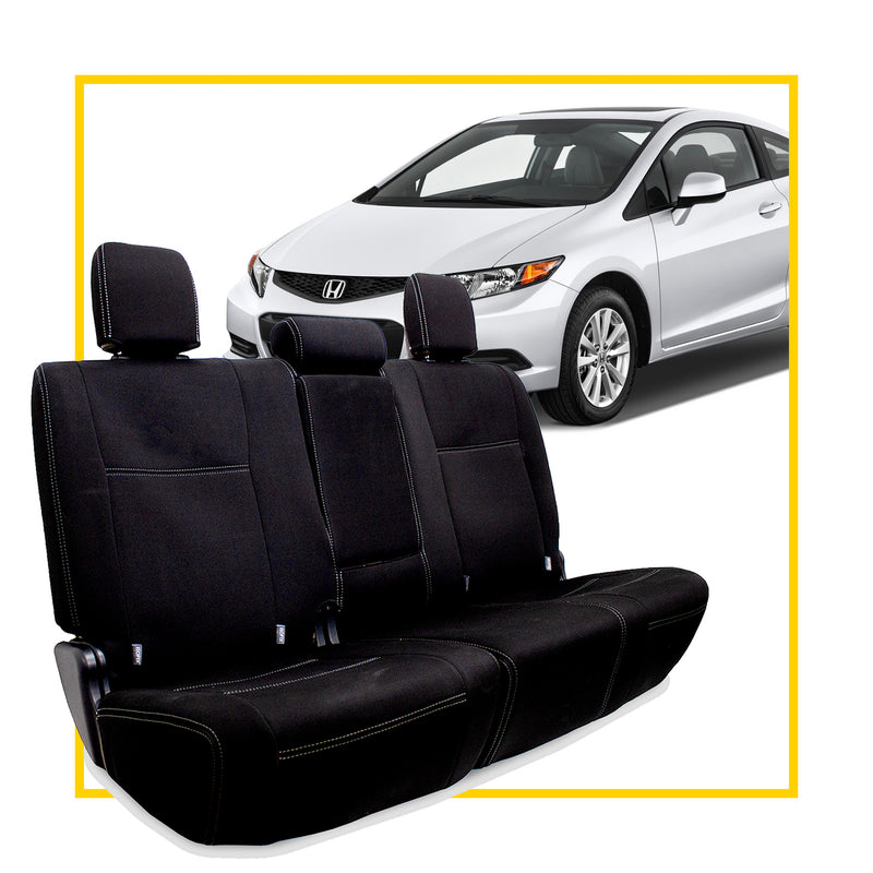 Honda Civic Neoprene Rear Seat Covers (In Stock)
