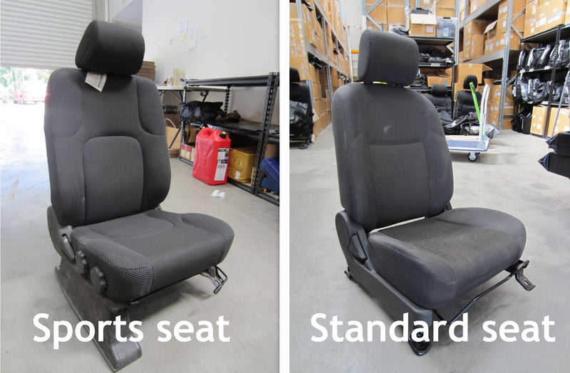 Nissan Navara D40 Premium Neoprene 2x Front Seat Covers (Made to Order) (Sports Seat)