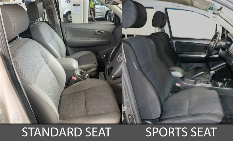 Toyota Hilux 7th Gen (SR5) Premium Neoprene 2x Front Seat Covers (Made to Order)