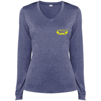 LST360LS Sport-Tek Ladies' LS Heather Dri-Fit V-Neck T-Shirt