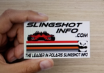 Slingshotinfo.com cards to hand out.