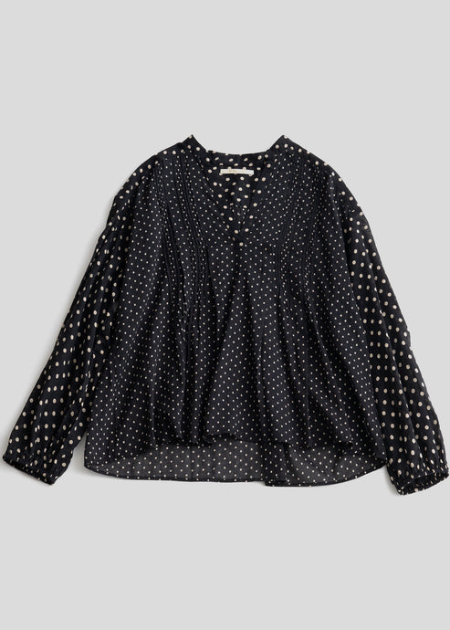 Cotton polka dot blouse | Rue Saint Paul