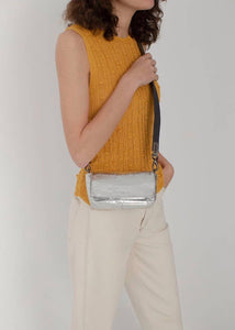 Silver belt bag | Sustainable Bags |  Rue Saint Paul