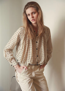 Cigar | Polka dot cotton blouse | Rue Saint Paul