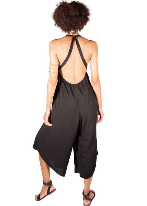 Around the World | Black Halter Jumpsuit | Rue Saint Paul