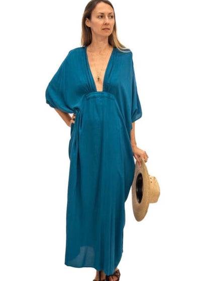 Dali | Teal Kaftan Dress | Rue Saint Paul