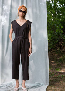 Citronnier | Capped sleeve jumpsuit | Rue Saint Paul