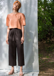 Morocco | Black wide leg cropped ankle pants | Rue Saint Paul