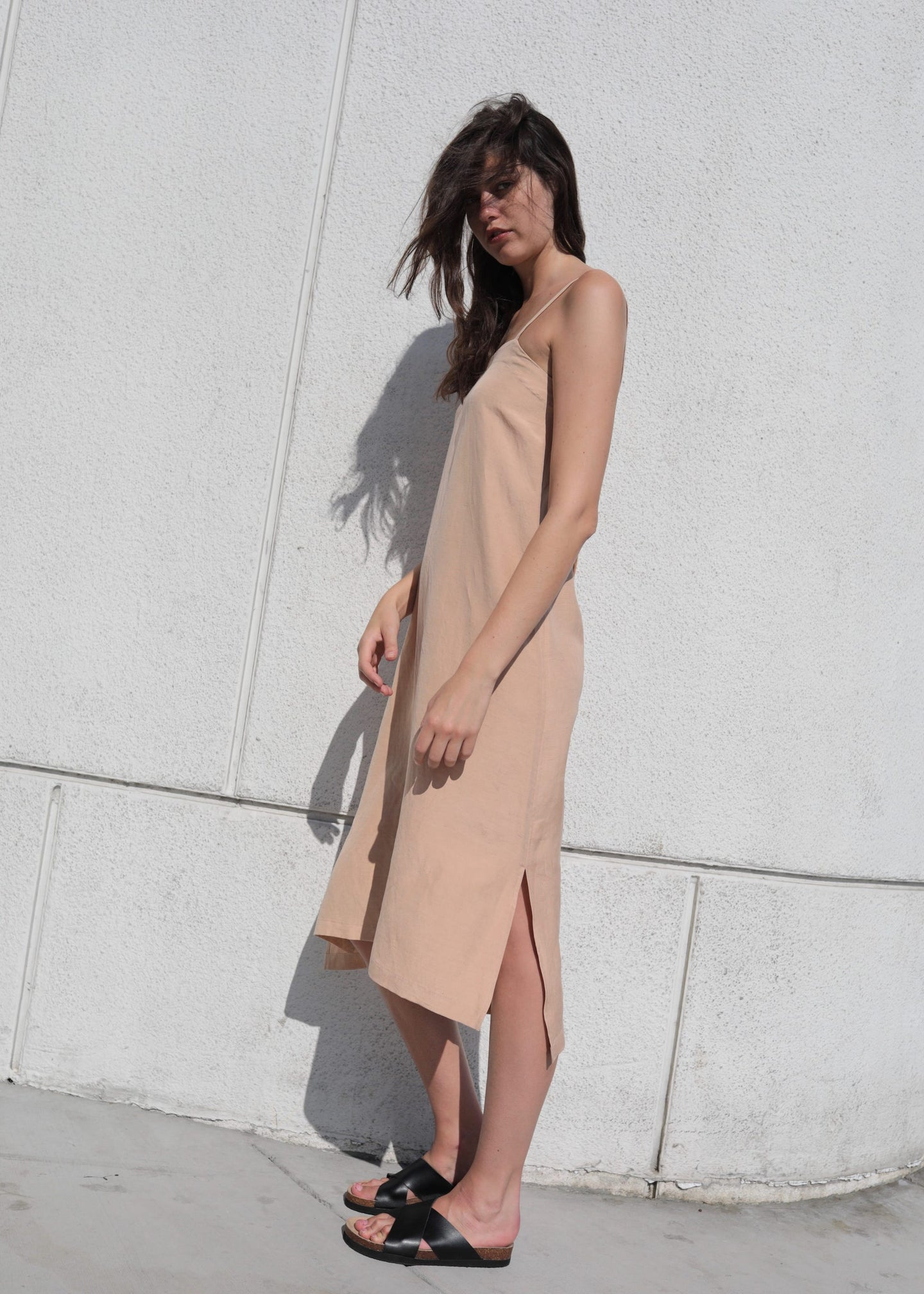 Halite | Beige slip dress | Rue Saint Paul