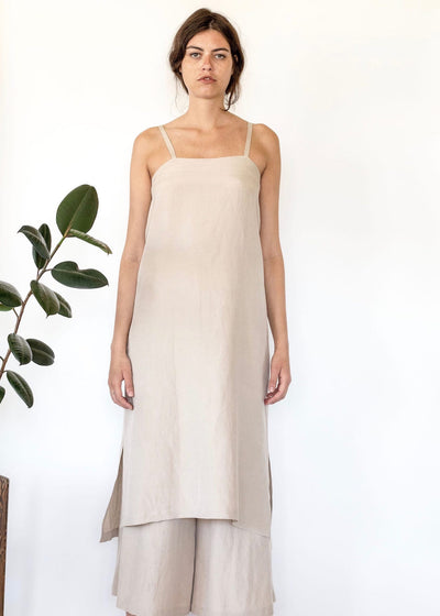 Halite | Sandstone slip dress | Rue Saint Paul