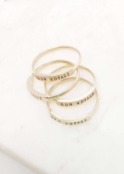 Bon Voyage 14K gold ring | Rue Saint Paul