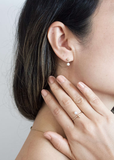 Tahiti Darling | Small pearl ring in 14K gold | Rue Saint Paul
